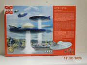 Busch 1010 Ufo Flying Saucer W/ Figures Kit - Ho Scale With Flashing Lights Kit