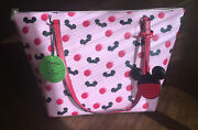 Bnwt Disney Parks Kate Spade New York Mickey Mouse Ear Hat Tote Bag Purse - Pink