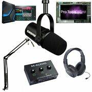 Shure Mv7 Ultimate Pro Mic Podcast Bundle Pro Tools 1st And Studio One 5 Prime