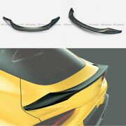 For Toyota Supra A90 2019+ T Type Forged Carbon Look Rear Trunk Spoiler Wing Lip