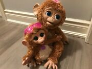 Furreal Friends ❤ Cuddles ❤ My Giggly Monkey Pet W Baby
