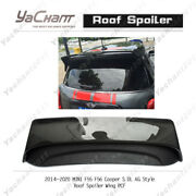 Carbonandfrp Rear Wing For 14-20 Mini F55 F56 Cooper S Dl Ag Style Roof Spoiler