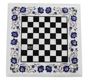 24 Inches Inlay Art At Border Marble Coffee Table Top Royal Game Table Kids Room
