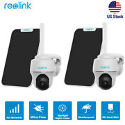 2set Reolink 4g Lte Outdoor Security Camera Battery-powered Go-pt W/ Solar Panel