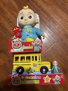 Cocomelon 10 Jj Plush Bedtime Doll And Musical School Busandnbspships Same Day