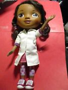 Disney Just Play Doc Mcstuffins Doll Talking Doctor White Coat No Stethoscope