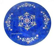 30 Inches Round Marble Center Table Top Luxurious Pattern Coffee Table For Home