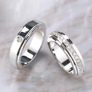 18k White Gold 0.35 Ct Real Diamond Valentine Couple Band All Size Available