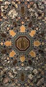 30 X 60 Inches Marble Conference Table Top Marquetry Art Dining Table Home Decor
