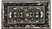 36 X 60 Inches Marble Hallway Table With Animals Design Royal Dining Table Top