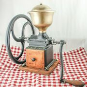 Antique Goldenberg 3 Coffee Grinder Mill Cast-iron Moulin Molinillo Cafe Rare