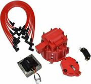 Chevy Sbc 262 283 302 350 Hei Distributor Tune Up Kit And 8.0mm Spark Plug Wires