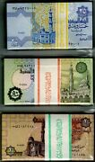 2001 Egypt 3 Bundles 25 50 Piasters And One Pound 300 Uncirculated Notes