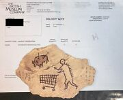 Peckham Rock Wooden Piece - Banksy Print With Receipt From British Museum Mint