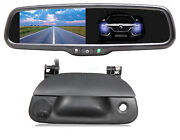 Tailgate Backup Camera Kit Auto Dimming Mirror Display For Ford F-150 1997-2003