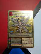 Rare Jp Lucemon Gold Etched Digimon Card