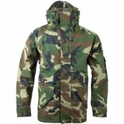 Us Military Gore-tex Jacket - Cold Weather Woodland Camo Parka - Large Reg - New