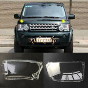 For 2010-2013 Land Rover Discovery 4 Left Right Front Headlamp Lens Cover 2pcs