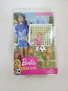 Barbie You Can Be Anything - Brunette Soccer Coach Doll Playset New Damaged Box