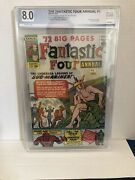 Fantastic Four Annual 1 1963 8.0 Graded Ow 💥 Spiderman Xover