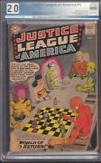 Justice League Of America Comic Issue 1 2.0 Graded  Dc Comics 1960