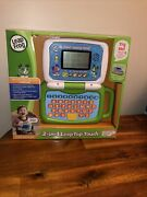 New Green Leapfrog 2 In 1 Leaptop Touch Cute Pretend Laptop For Toddlers