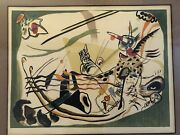 Framed Kandinsky Chromolithograph Hand Numbered 40/300 Study For A Green Border