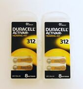 Duracell Activair Hearing Aid Batteries Size 312 Exp 2024 16 To 400 Batteries