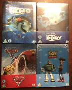 Disney Pixar 3d Steelbook Lot Finding Nemo Finding Dory Cars 3 Toy Story Sealed