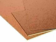 Copper Sheet 0 1/32in-0 3/16in Panels Cu Metal Selectable 3 15/16in To 39 3/8in