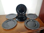 Beautiful Silver Lenox - Marshall Field And Co - Porcelain Plate Set Of Six