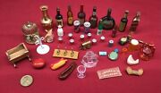 Antique And Vintage Miniatures Lot Of 41 Doll House Rare Collection Mini Tiny