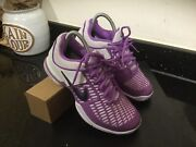 Genuine Nike Air Zoom Breathe 2k10 White Purple Trainers Size Uk 3.5 Lovely Cond
