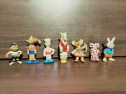 Very Old Rubber Figures Wolf Celluloid Rare Ussr Antique Toys