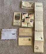 Traveling Collectibles Lot Of 12 Cards Letter Envelopes Hand Wipes Airline Plus