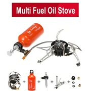 Outdoor Portable Oil Gas Multi Fuel Camping Stove Set Hiking Cookware With Botle
