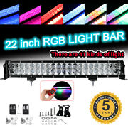 22inch 280w Rgb Led Light Bar Remote Glow Multi Color 48colors Changing 20/24