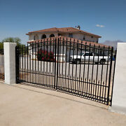 Aleko St Petersburg Style Iron Wrought Dual Driveway Gate 12and039 High Quality