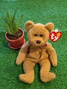 Ty Beanie Baby Curly Bear 1996 Rare With Lots Of Errors 4052