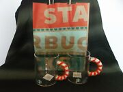 New Set Of 2 Starbucks Holiday 2020 12oz Glass Candy Cane Handle Mugs - Sold Out