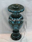 21 Inches Marble Decorative Flower Vase With Cottage Crafts Planter Home Decor