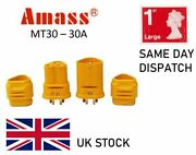 Genuine Amass Mt30 Connectors Male / Female / Pairs Rc Lipo Battery 30a 3-pole