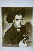 Lash Larue Signed 8x10 Photograph - Inscribed / Dated 1992 - Western Star - King