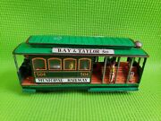 Vintage 1950's San Francisco Cable Car Friction Tin Toy W Bay And Taylor Japan