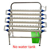 66 Holes Planting System Slant Hydroponic Site Grow Kit Stainless Steel Rack