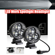 2pcs 3and039and039 Car Boat Fog Lamp Offroad A-pillar Light Motorcycle Led Work Spotlight