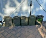 Five Ww2 Us Army Military Gas Jerry Cans