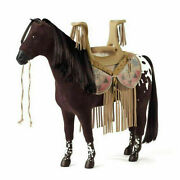 American Girl Doll Kaya's Mare Steps High Horse And Saddle New