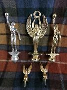 Vintage Women's Basketball Trophy Toppers Lot Of 5 Rare