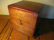 Hamilton 36 Size Mounted Chronometer Box Wwi. Blue Felt In Great Condition